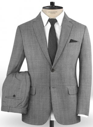 Light Gray Pick & Pick Wool Suit