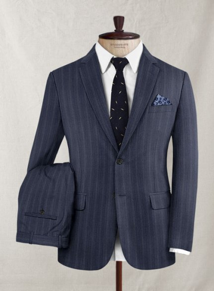Reda Sotto Blue Wool Suit