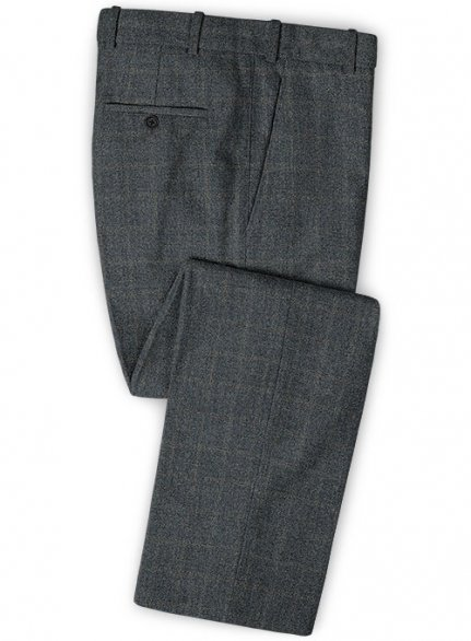 Vintage Milan Blue Tweed Pants