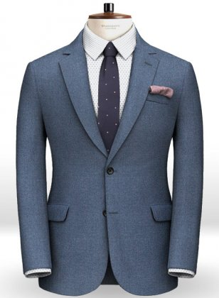 Light Weight Club Blue Tweed Jacket