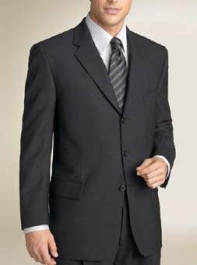 100 Percent Pure Merino Wool - Black Suit