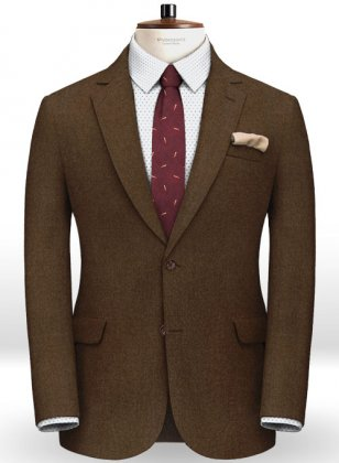 Italian Flannel Melange Brown Wool Jacket