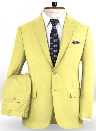 Napolean Yellow Wool Suit