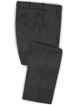 Worsted Super Dark Gray Wool Suit