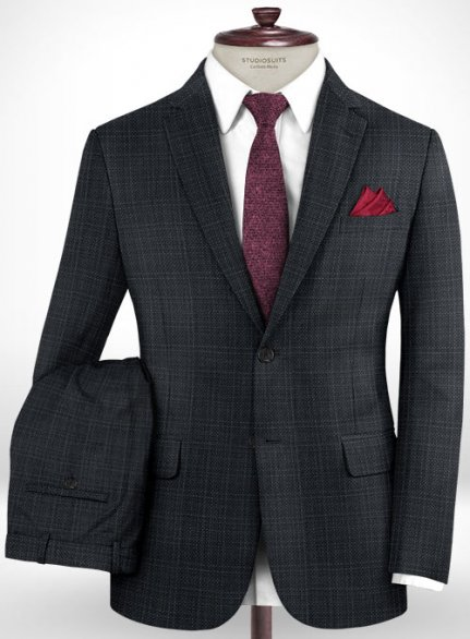 Napolean Vintage Charcoal Wool Suit