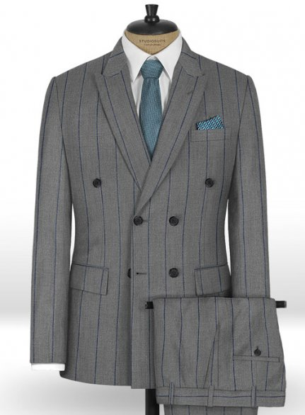 Napolean Rodrio Gray Wool Suit