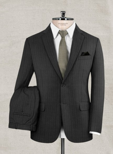 Zegna Ispino Gray Stripes Wool Suit