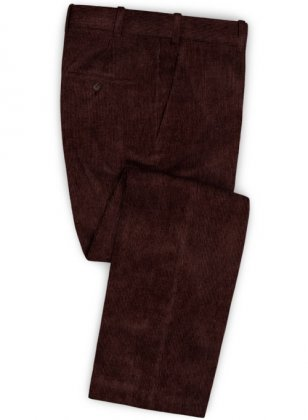 Wine Corduroy Pants
