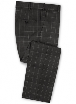 Napolean Criss Charcoal Wool Pants