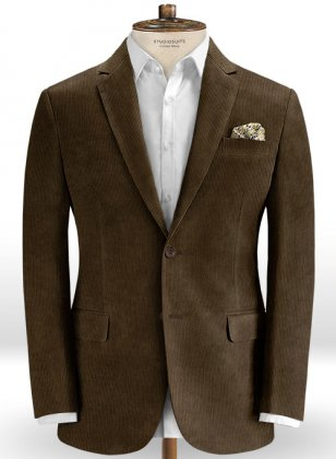 Dark Brown Corduroy Jacket
