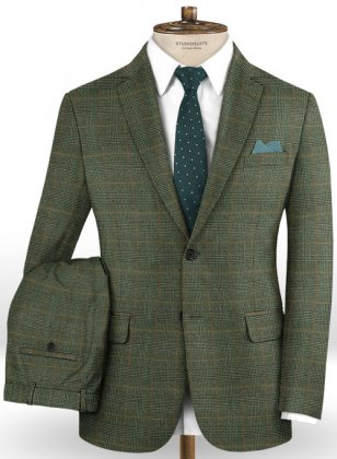 Caccioppoli Dapper Dandy Madici Green Suit