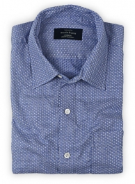 Giza Kyle Blue Cotton Shirt - Full Sleeves