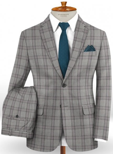 Napolean Petti Light Gray Wool Suit