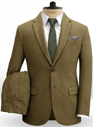 Melange Brown Feather Tweed Suit