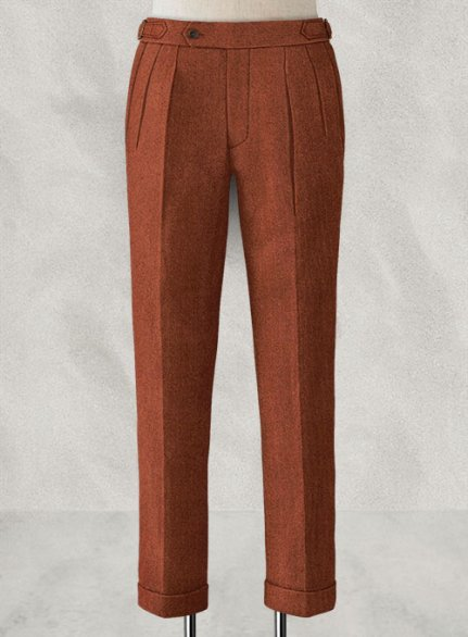 Melange Titan Rust Highland Tweed Trousers