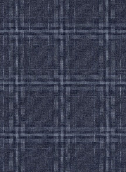 Reda Caiazo Blue Checks Wool Suit