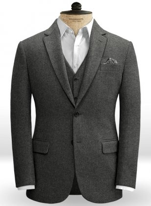 Light Weight Charcoal Tweed Jacket