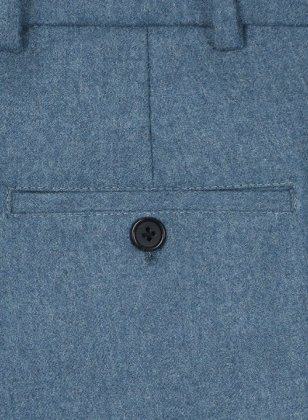 Light Weight Turkish Blue Tweed Pants
