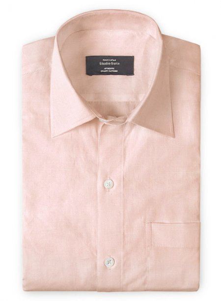 Pink Cotton Linen Shirt