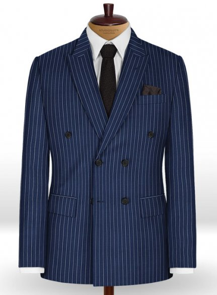 Napolean Stripo Navy Blue Wool Jacket