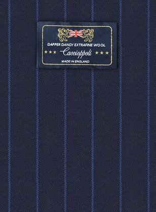 Caccioppoli Dapper Dandy Lerci Navy Blue Suit