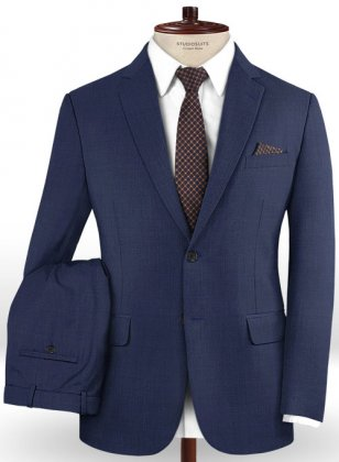 Stretch Royal Blue Wool Suit