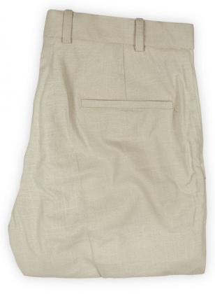 Tropical American Beige Linen Pants - 32R