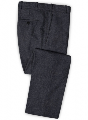 Charcoal Denim Tweed Pants
