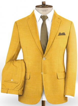Mystic Yellow Wool Suit
