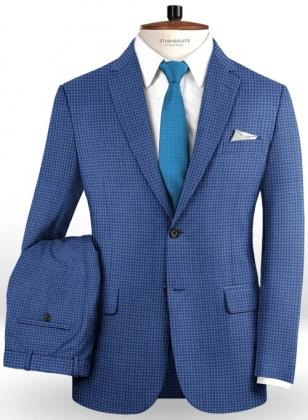 Napolean Cozy Blue Wool Suit