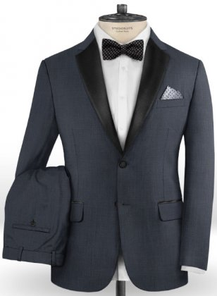 Napolean Highball Blue Wool Tuxedo Suit