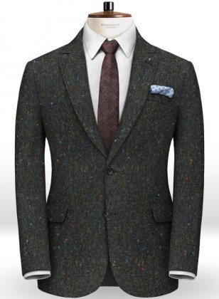 Caccioppoli Donegal Dark Green Tweed Jacket
