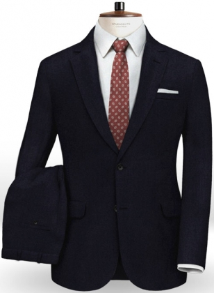 Italian Dark Navy Wool Suit