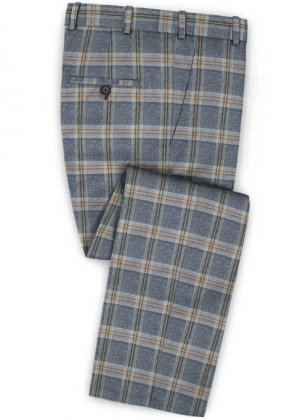 Parma Blue Feather Tweed Pants