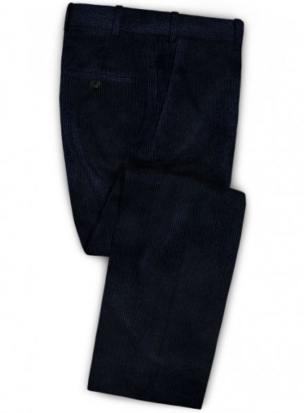Navy Blue Thick Corduroy Pants
