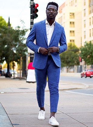 Mystic Cobalt Blue Wool Suit
