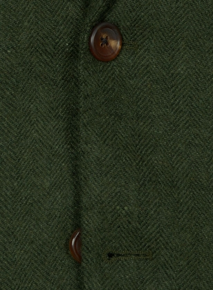 Vintage Herringbone Green Tweed Suit