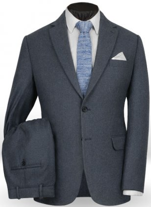Light Weight Bond Blue Tweed Suit