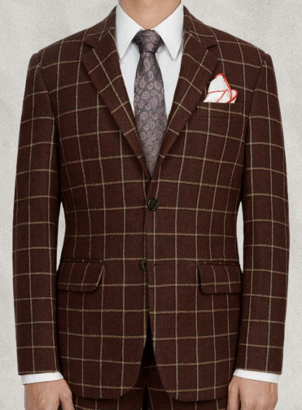 Vintage Brown Glen Royal Tweed Jacket