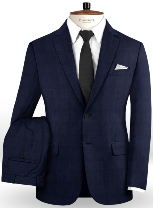 Napolean Charles Blue Wool Suit