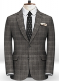 Reda Homme Gray Checks Pure Wool Jacket