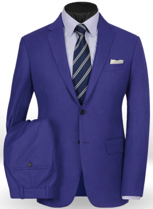 Fizz Blue Flannel Wool Suit