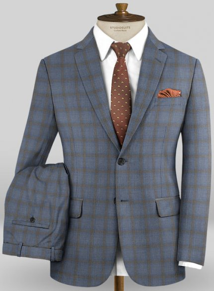 Scabal Mosaic Petila Gray Wool Suit