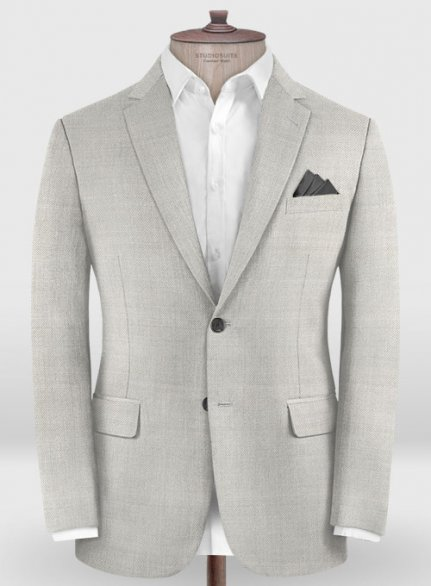 Zegna Trofeo Light Gray Wool Jacket