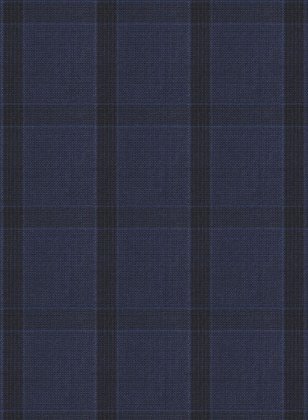 Napolean Tartan Space Blue Wool Suit
