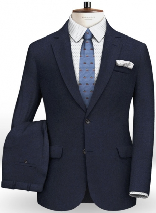 Italian Flannel Lux Blue Wool Suit