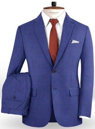 Napolean Chok Royal Blue Wool Suit