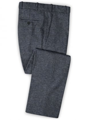 Indigo Blue Tweed Pants