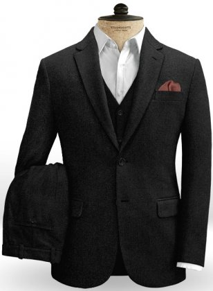 Black Tweed Suit