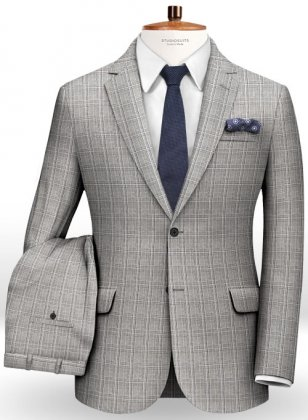 Glen Wool Light Gray Suit